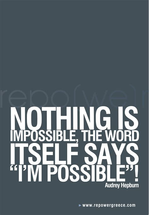 is on quotes nothing is impossible quotes quotesgram