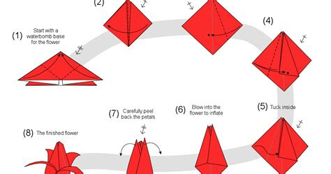 cara membuat origami bunga dari kertas warna cara membuat origami bunga tulip 3 dimensi cara membuat