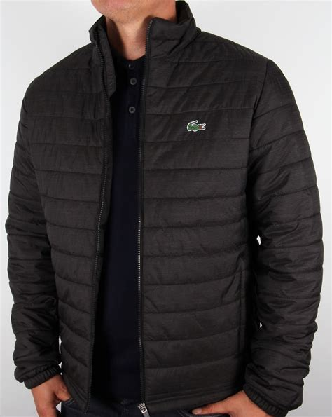 lacoste sport quilted jacket black s puffa puffer