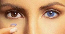 beauty woman: color contact lenses an easy way to change