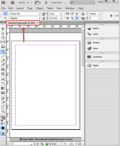 indesign creating a master page how to create master pages in indesign dynamic web