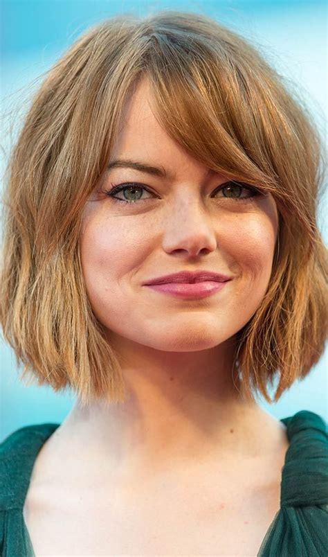top   short hairstyles  bangs   faces