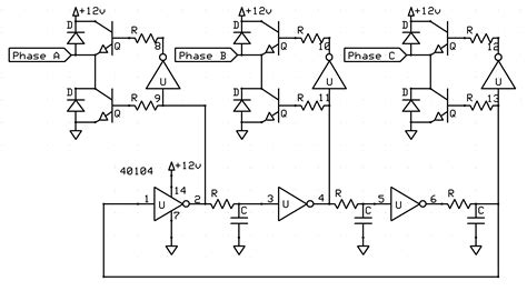 dc to 3 phase ac inverter circuit diagram circuit and