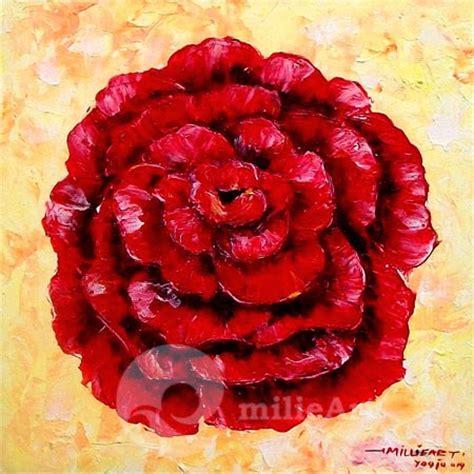 Lukisan Kaligrafi Bunga Merah Abstrak jual lukisan bunga mawar merah mb 062 milieart yogyakarta