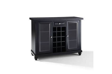 Sliding Top Bar Cabinet by Cambridge Sliding Top Bar Cabinet In Black Finish By