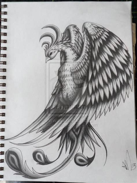 pheonix tattoo design by scribilitary on deviantart
