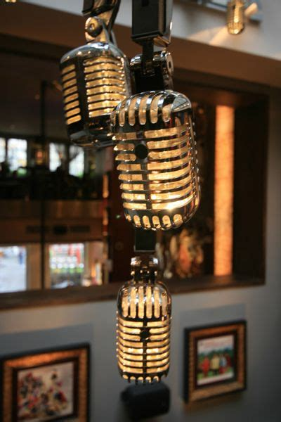 Kaos Ace Cafe rock cafe brussels the microphone pendant lights