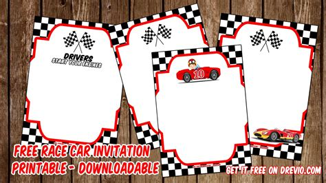 racing card templates free printable race car invitation templates bagvania