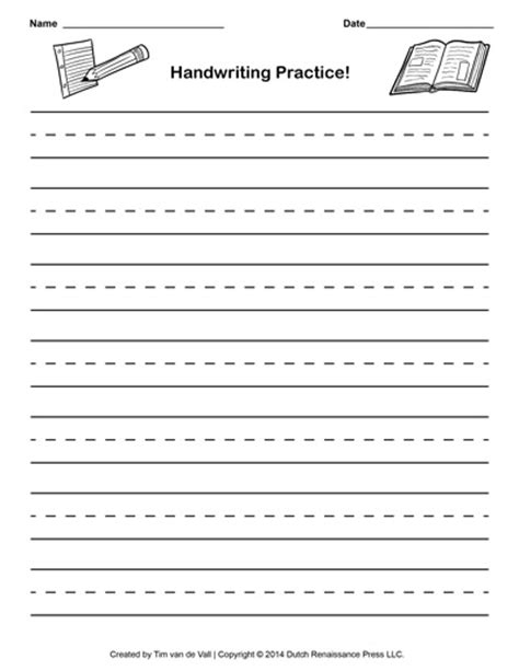 free printable elementary handwriting paper handwriting paper template printable writing paper