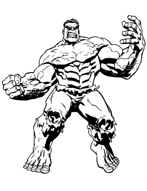 big muscle incredible hulk coloring page h m coloring