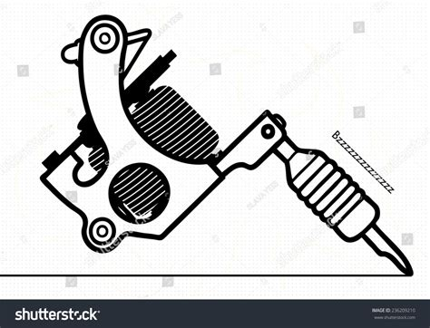 tattoo machine vector download tattoo machine stock vector 236209210 shutterstock