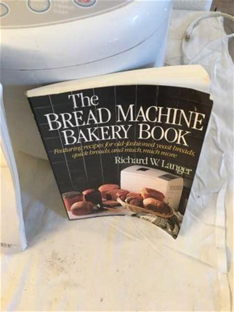 bread maker recipe book ebay toastermaster bread maker machine model tbr15 560 watt