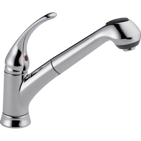delta kitchen faucets reviews delta foundations single handle pull out sprayer kitchen