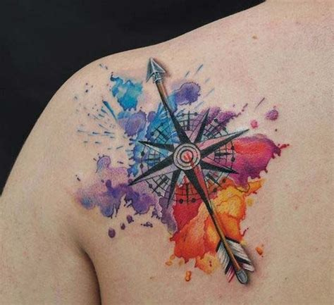 watercolor star tattoo nautical images designs