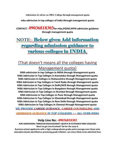 Direct Admission In Mba Through Management Quota 2016 by Dear 2016 Mba Applicant Admission Through Management Quota