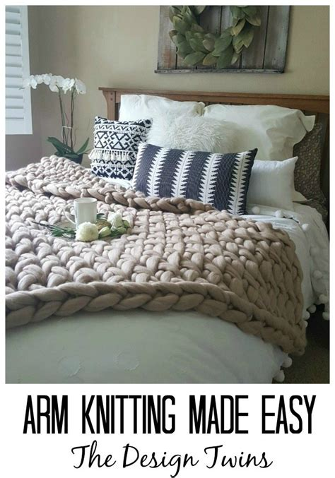 knitting made easy arm knitting made easy the design diy home decor