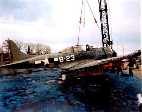 boat crash douglas lake douglas sbd dauntless dive bomber recovered from lake