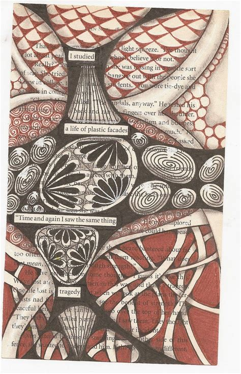zentangle pattern dictionary zentangle over dictionary page or blackout poem google