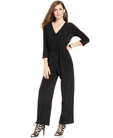 dressy jumpsuits at macys for women ny collection petite belted jumpsuit pants capris