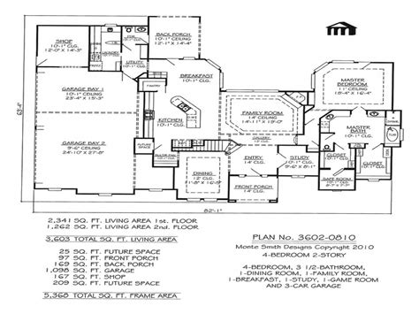 4 Bedroom Ranch Floor Plans by 4 Bedroom Ranch Floor Plans 4 Bedroom 2 Bath House Plans