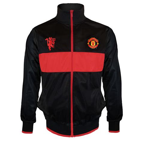 Vest Hoodie Manchester United Fc 3 manchester united fc official football gift boys retro track jacket ebay