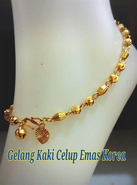 gelang kaki emas korea 24k celup 17 end 3 8 2017 2 15 pm