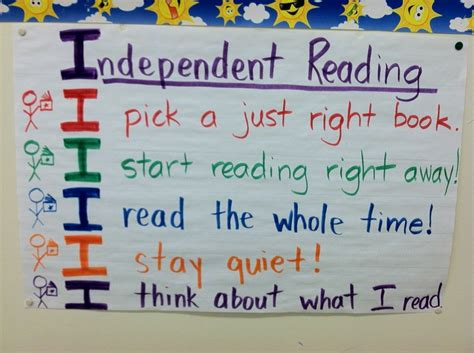 weight management reading independent reading anchor chart classroom