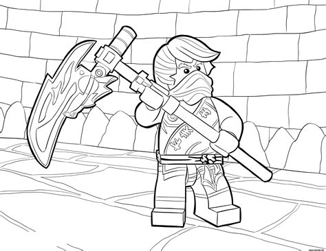 ninjago ghost coloring page coloriage lego ninjago cole tournament of elements dessin