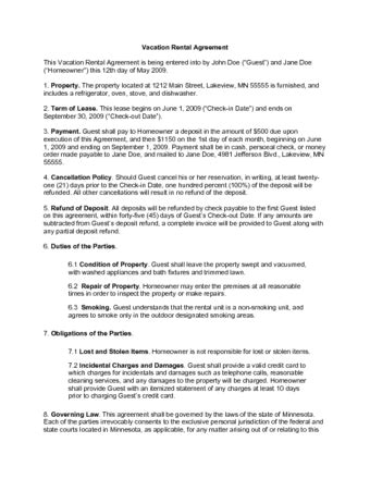 vacation rental agreement how to write a vacation rental contract with sle contract