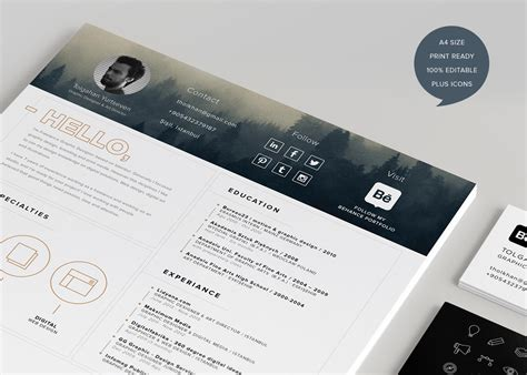 Free Creative Resume Template by 40 Creative Resume Templates You Ll Want To In 2018