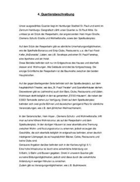 Referat Schreiben Muster Referat Beispiel Einer Stadtteilanalyse Quartiersbeschreibung Schulhilfe De