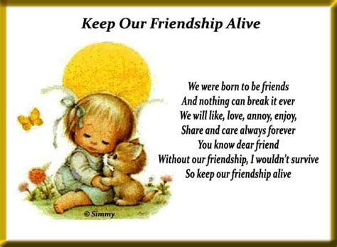 Keep Our Friendship Alive  Free Best Friends eCards