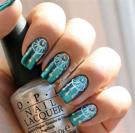 dream catcher design for nails 100 awesome green nail art designs