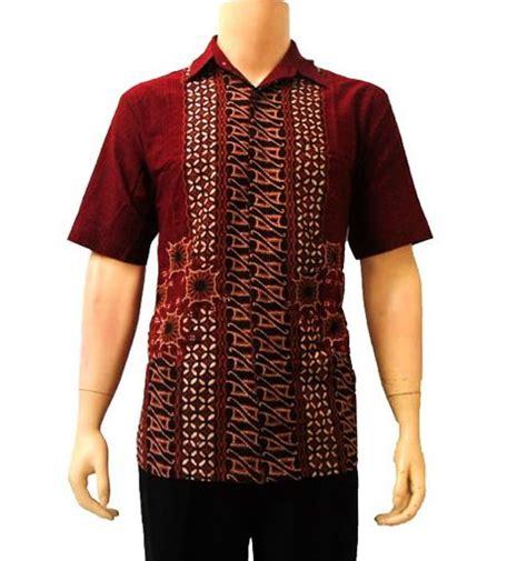 Kemeja Batik Coklat Formal Cowok Pria kemeja batik pria motif kombinasi modern batik sekar
