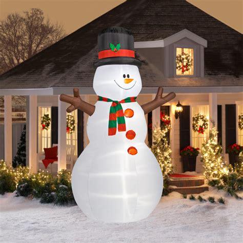 12 tall airblown snowman inflatable walmart com
