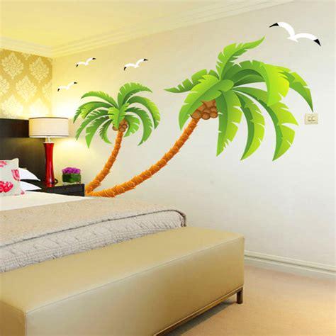 Dekorasi Rumah Best Seller Wall Sticker Dinding Walpaper Paper Stiker aliexpress beli pohon kelapa hijau burung camar stiker dinding vinil dekorasi rumah kamar
