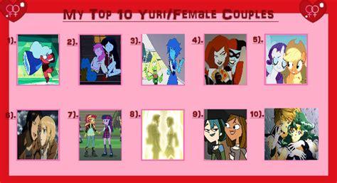 best yuri my top 10 favorite yuri couples by kunoichi92 on