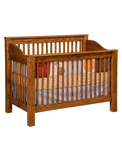 Convert Crib Mission Conversion Crib Amish Direct Furniture