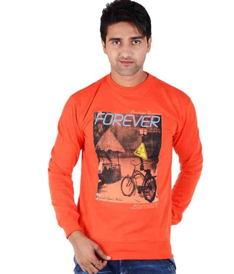 bendiesel orange woollen round sweatshirt
