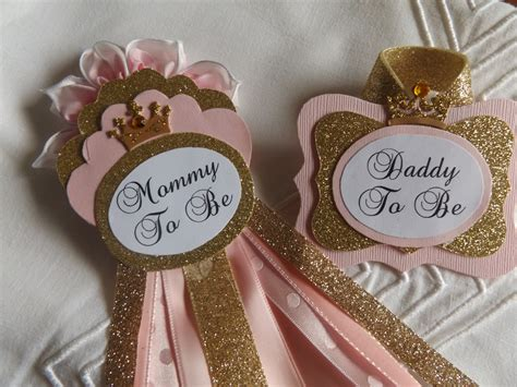 Baby Shower Pins Corsages by Sale To Be To Be Set Pink Gold Princess