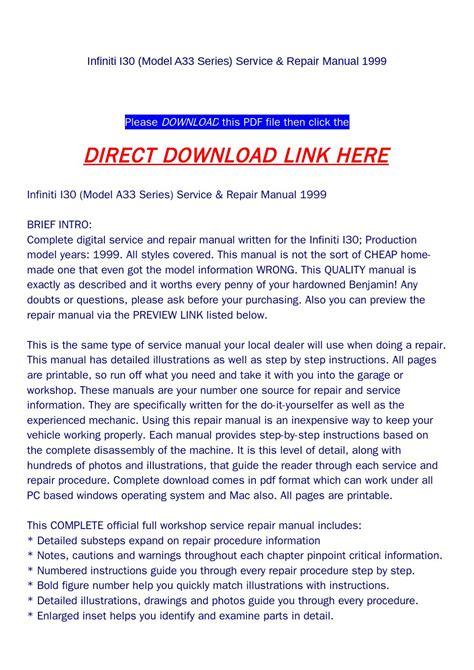 repair manual service manual infiniti i30 pdf download autos post infiniti i30 model a33 series service repair manual 1999 by backoiiew2 issuu