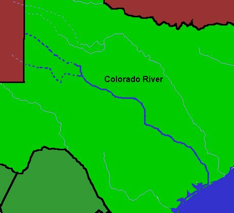 map of texas and colorado colorado river fishing cing recreation