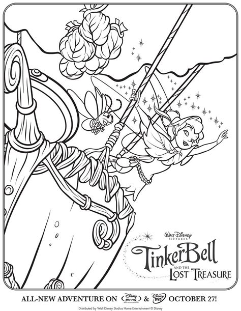 tinkerbell coloring page pdf tinkerbell and the lost treasure coloring pages coloring