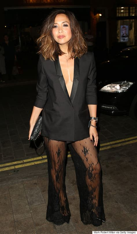 Carpet Myleene Klass At Mayfair Personality Of The Year Event by Myleene Klass Flashes Bum After Attending Cosmo Awards