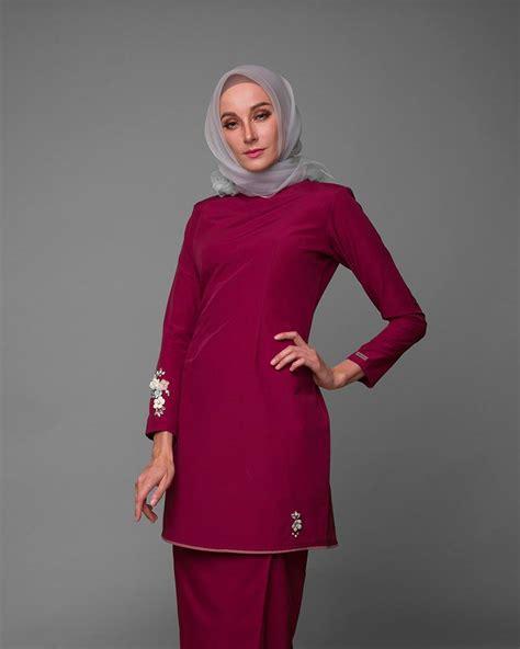 baju kurung moden untuk konvokesyen kurung moden iris hot maroon cirgaro