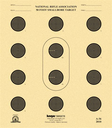 printable competition targets 50 foot smalbore target nra a 36 kruger premium