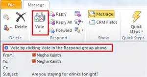 voting buttons in microsoft outlook 2010 microsoft