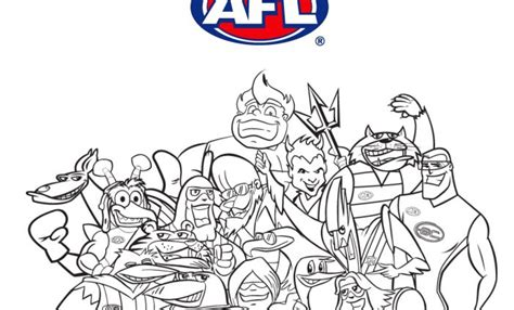 afl colouring pages children coloring regarding afl