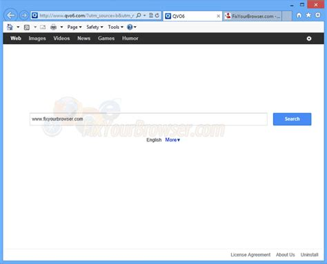 remove qvo6 hijacker removal guide spywareremove how to remove qvo6 virus fixyourbrowser