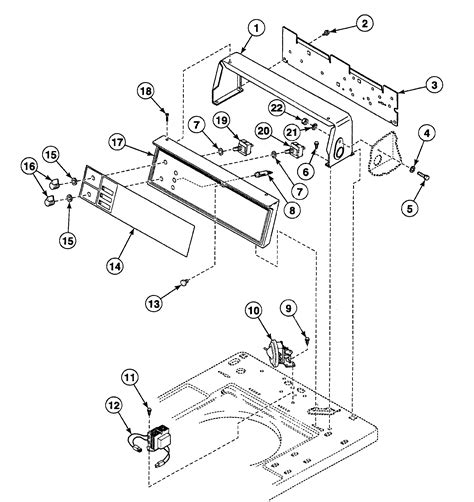 speed washer parts diagram panel diagram parts list for model swt921wn
